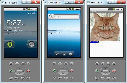running Android emulator